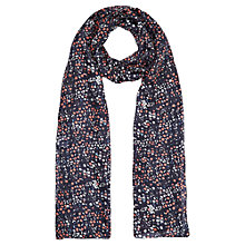 Buy Jigsaw Frieda Floral Print Silk Scarf, Coral Online at johnlewis.com
