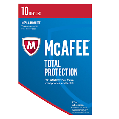 McAfee Total Protection 2017, 10 Devices, 1-Year Subscription