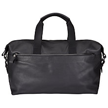 Buy Ted Baker Corre Leather Holdall, Black Online at johnlewis.com