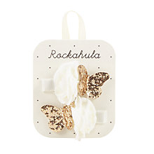 Buy Rockahula Bridal Rose and Butterfly Hair Clip, Pack of 2, Ivory Online at johnlewis.com