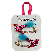 Buy Rockahula Girls' Glitter Hummingbird Clips, Pack of 2, Pink/Gold Online at johnlewis.com