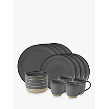 Buy ED Ellen DeGeneres for Royal Doulton Brushed Glaze Charcoal Grey Stoneware Set, 16 Piece Online at johnlewis.com