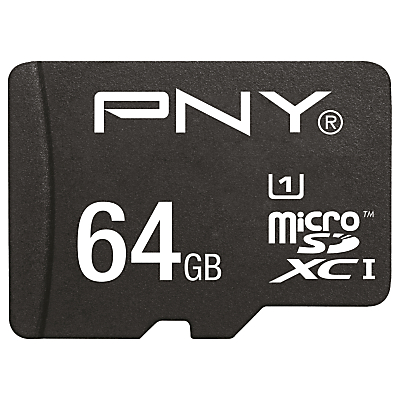PNY High Performance microSD Memory Card, 64GB, 80MB/s with SD Adapter