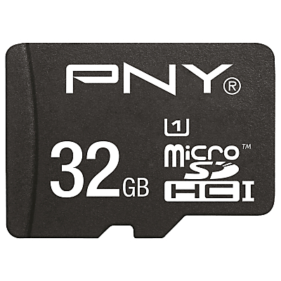 PNY High Performance microSD Memory Card, 32GB, 80MB/s with SD Adapter