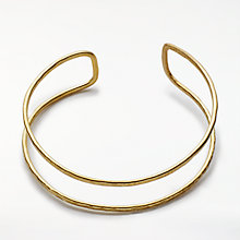 Buy People Tree Double Bangle, Gold Online at johnlewis.com