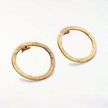 Buy People Tree Simple Circle Earrings, Gold Online at johnlewis.com