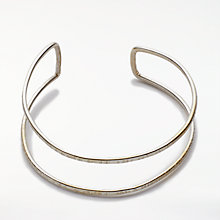 Buy People Tree Double Bangle, Silver Online at johnlewis.com