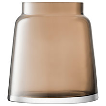 Buy LSA International Chimney Vase, H17.5cm, Mocha Online at johnlewis.com