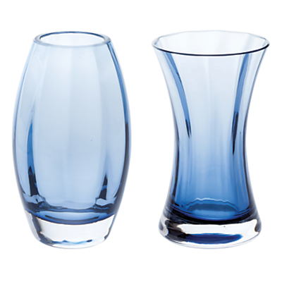 Dartington Crystal 'Adam & Eve' Vases, Gift Pack, Set of 2