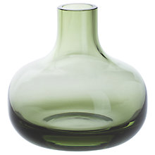 Buy Dartington Crystal Aurora Medium Posy Vase, H13cm, Olive Online at johnlewis.com