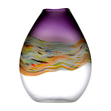 Buy Voyage Lucius Vase, Medium (H28cm), Amethyst Online at johnlewis.com