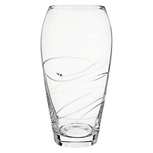 Buy Dartington Crystal Rhumba Large Barrel Vase, Clear Online at johnlewis.com