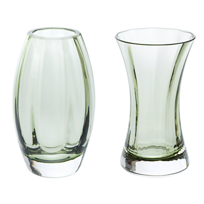 Dartington Crystal 'Adam & Eve' Vases, Gift Pack, Set of 2