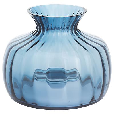 Dartington Crystal Cushion Medium Posy Vase, H14.5cm, Optic Ink