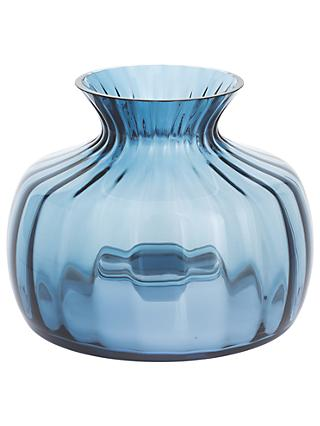 Dartington Crystal Cushion Medium Posy Vase, H14.5cm, Optic Ink
