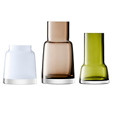 Buy LSA International Chimney Mini Vases, Set of 3, Coloured Online at johnlewis.com