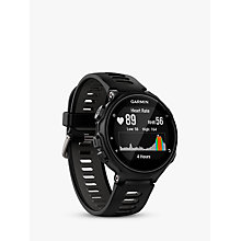 Buy Garmin Forerunner 735XT GPS Multisport Watch with Wrist-based Heart Rate Technology, Black/Grey Online at johnlewis.com