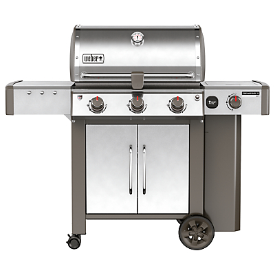 Image of Weber Genesis II LX S-340 3-Burner Gas BBQ, Silver