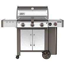 Buy Weber Genesis® II LX S-340 Gas BBQ, Silver Online at johnlewis.com