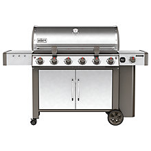 Buy Weber Genesis® II LX S-640 Gas BBQ, Silver Online at johnlewis.com