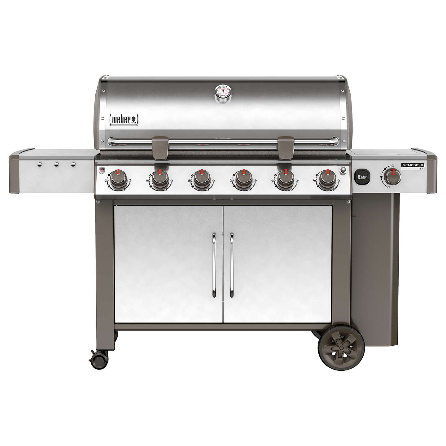 BuyWeber Genesis II LX S-640 6-Burner Gas BBQ, Silver Online at johnlewis.com