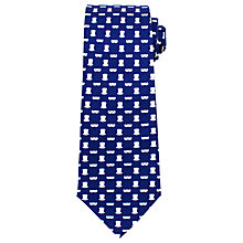 Buy John Lewis Tache and Top Hat Silk Tie, Navy/White Online at johnlewis.com