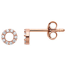 Buy Estella Bartlett Rose Gold Plated Sterling Silver Cubic Zirconia Small Circle Stud Earrings, Rose Gold Online at johnlewis.com