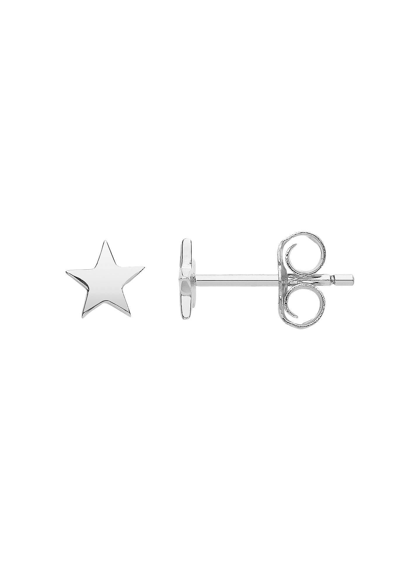 8c84ee045 Buy Estella Bartlett Star Stud Earrings, Silver Online at johnlewis.com