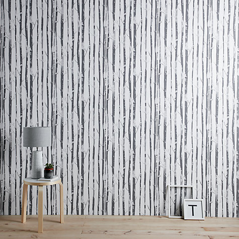Buy John Lewis Lundby Wallpaper, Monochrome Online at johnlewis.com