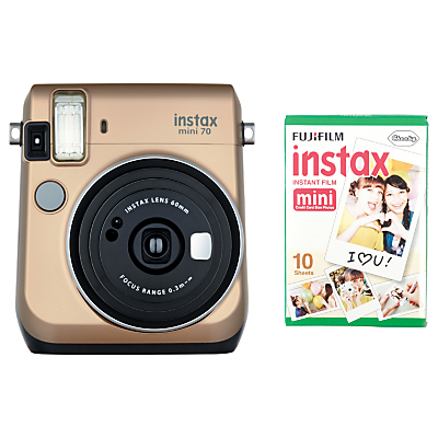 Fujifilm Instax Mini 70 Instant Camera With 10 Shots Of Film, Selfi Mode, Built-In Flash & Hand Strap