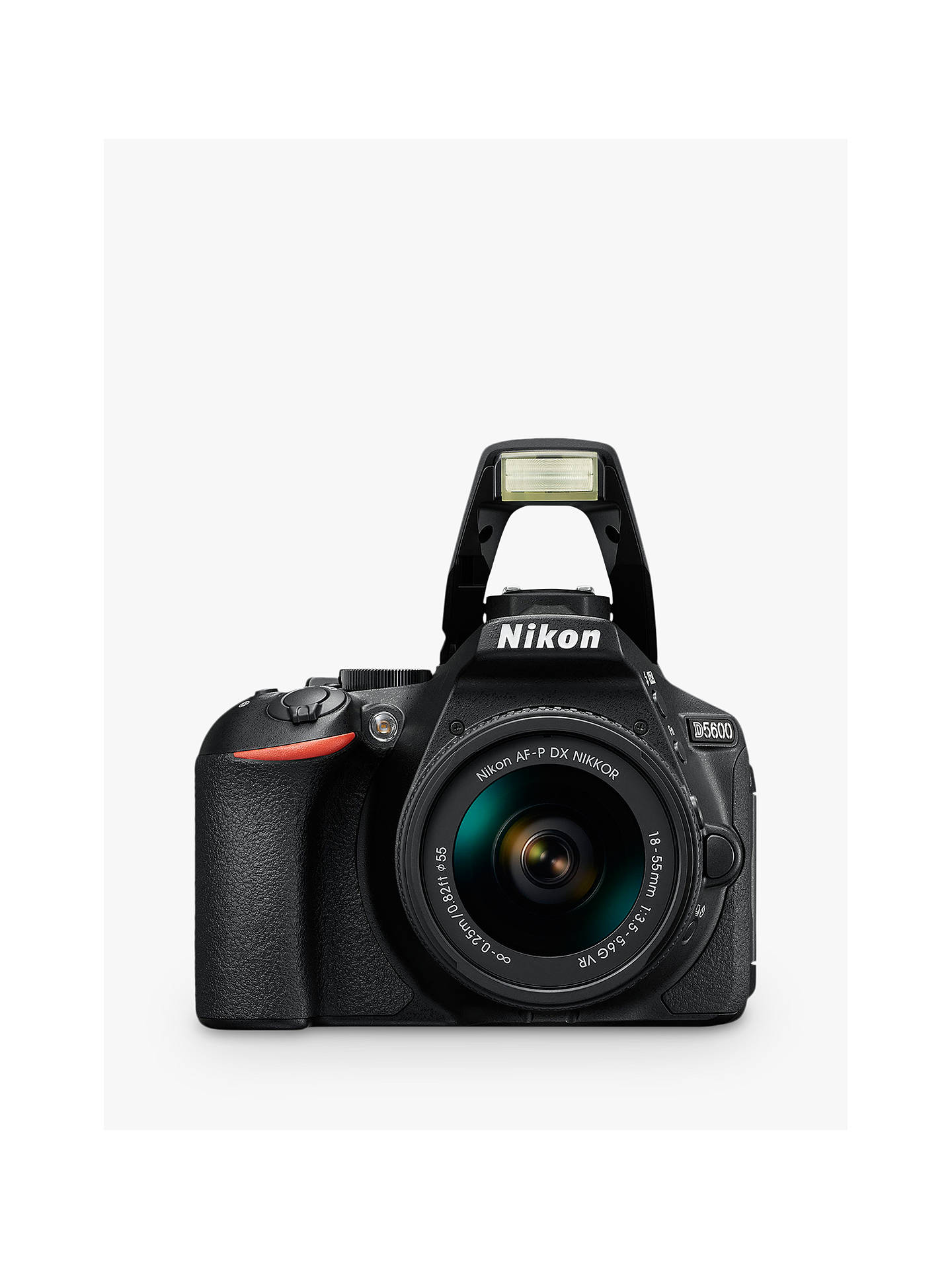 "Buy Nikon D5600 Digital SLR Camera with 18-55mm VR Lens, HD 1080p, 24.2MP, Wi-Fi, Optical Viewfinder, 3.2"" Vari-Angle LCD Touch Screen, Black Online at johnlewis.com"