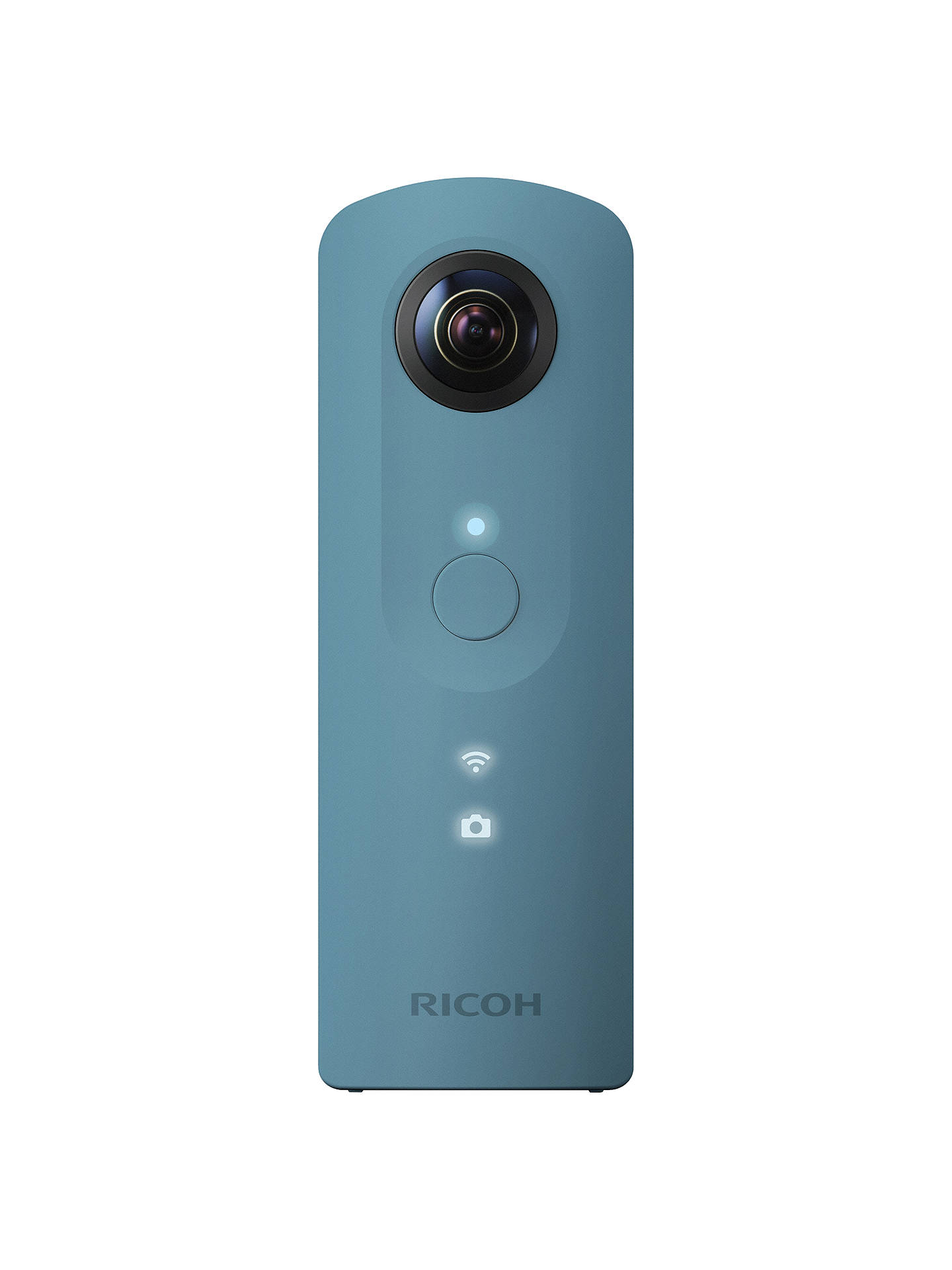 BuyRicoh THETA SC Action Camera, HD 1080p, 14MP, 360° Recording, Wi-Fi with Soft Case, Blue Online at johnlewis.com