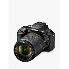 "Buy Nikon D5600 Digital SLR Camera with 18-140mm VR Lens, HD 1080p, 24.2MP, Wi-Fi, Optical Viewfinder, 3.2"" Vari-Angle LCD Touch Screen, Black Online at johnlewis.com"