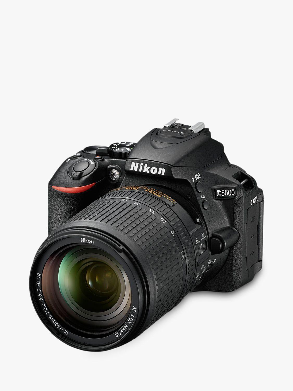 Nikon Nikon D5600 Digital SLR Camera with 18-140mm VR Lens, HD 1080p, 24.2MP, Wi-Fi, Optical Viewfinder, 3.2 Vari-Angle LCD Touch Screen, Black