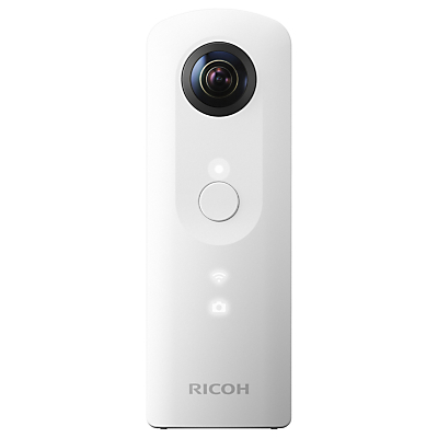 Pentax Ricoh THETA SC Action Camera, HD 1080p, 14MP, 360° Recording, Wi-Fi with Soft Case