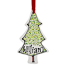 Buy Gallery Thea Personalised Christmas Tree Hanging Decoration Online at johnlewis.com