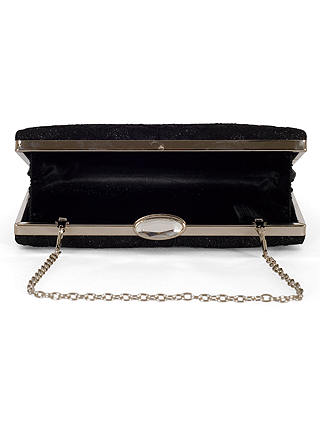 Buy Chesca Floral Lace Clutch Bag, Black Online at johnlewis.com
