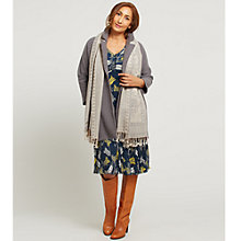 Buy East Wool Jacquard Scarf, Grey Online at johnlewis.com