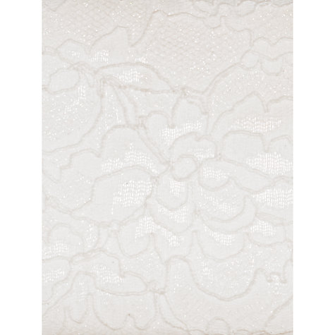 Buy Chesca Floral Lace Diamante Clutch Bag, Ivory Online at johnlewis.com