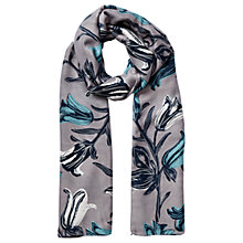 Buy East Tulip Print Floral Scarf, Ash Online at johnlewis.com