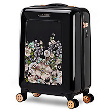 Buy Ted Baker Gem Garden 54cm 4-Wheel Cabin Case, Black Online at johnlewis.com