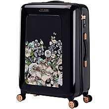 Buy Ted Baker Gem Garden 69cm 4-Wheel Suitcase, Black Online at johnlewis.com