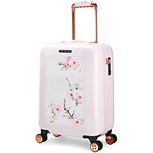 Buy Ted Baker Oriental Blossom 54cm 4-Wheel Cabin Case, Pink Online at johnlewis.com