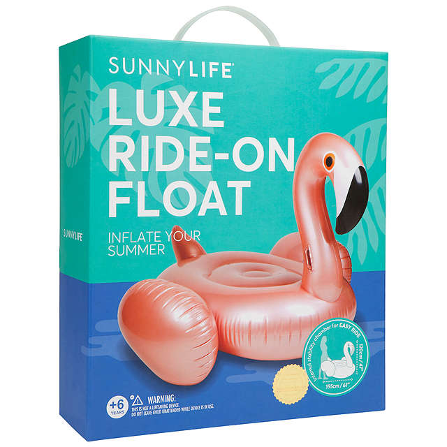 BuySunnylife Luxe Float Inflatable Flamingo, Rose Gold Online at johnlewis.com