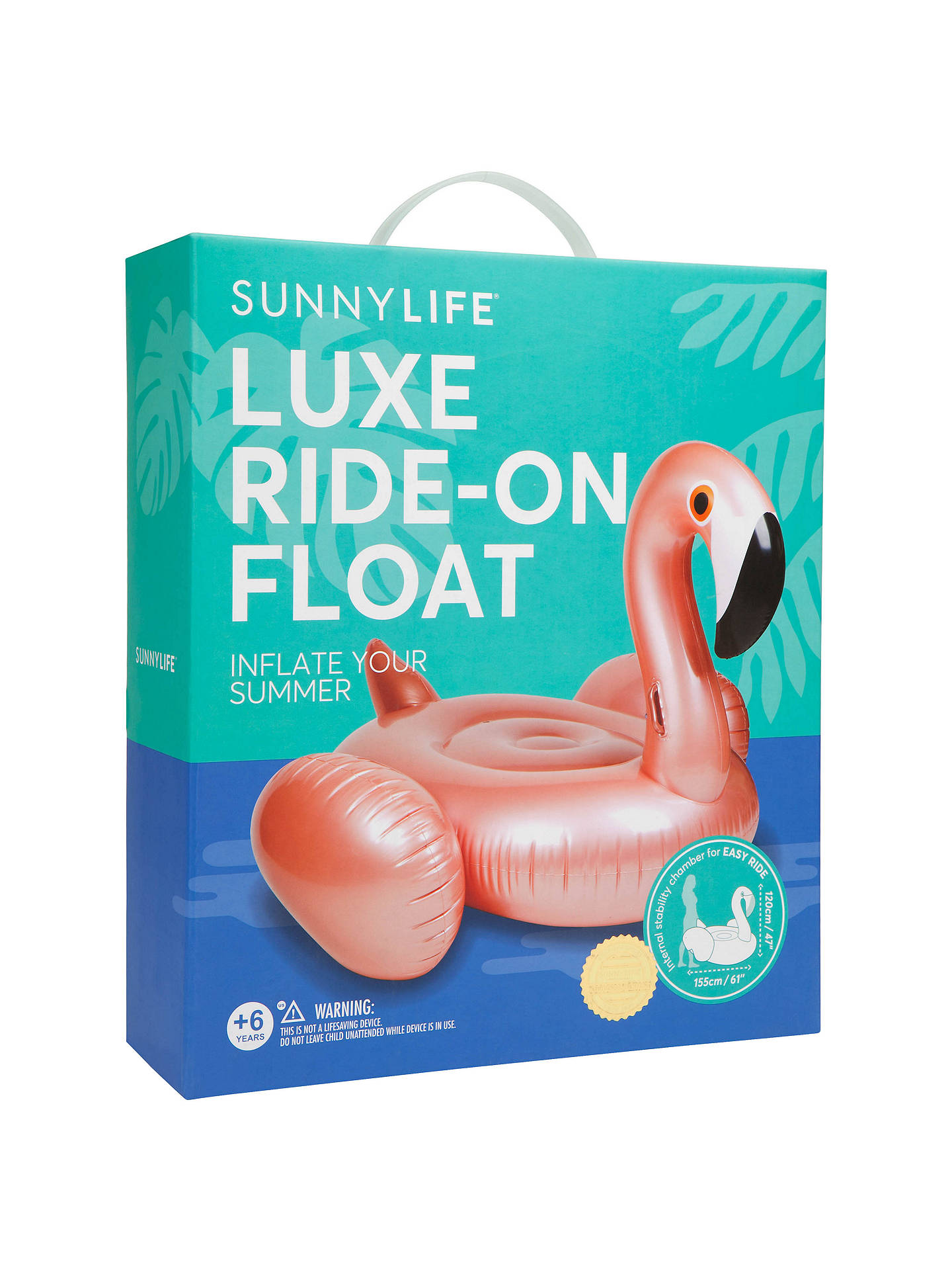 Buy Sunnylife Luxe Float Inflatable Flamingo, Rose Gold Online at johnlewis.com