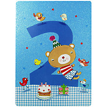 Buy James Ellis Stevens Age 2 Bear Birthday Card Online at johnlewis.com