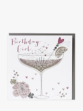 Belly Button Designs Birthday Girl Greeting Card