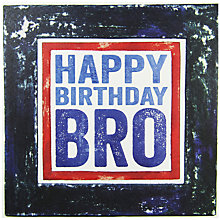 Buy Blue Eyed Sun Birthday Bro Greeting Card Online at johnlewis.com