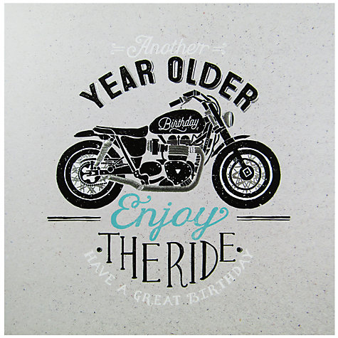 Buy Carte Blanche Motorcycle Birthday Card – Motorbike Birthday Cards