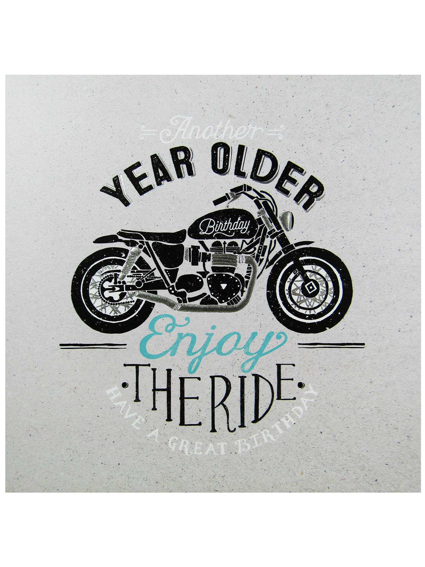 motorcycle birthday pic  Carte Blanche Motorcycle Birthday Card at John Lewis